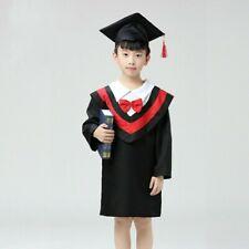 Graduation Hat Gown Cap Cloak Children Kids Kindergarten Costume Outfit SHP