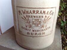 M Wharram Burgh Le Marsh brewery pictorial sepia print flagon jar bottle