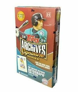 2021 Topps Archives Signature Series Retired Edition Factory Sealed Hobby Box