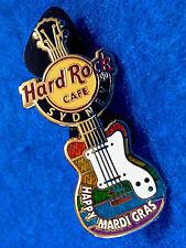 SYDNEY GAY LESBIAN MARDI GRAS PARADE 2016 RAINBOW MINI GUITAR Hard Rock Cafe PIN