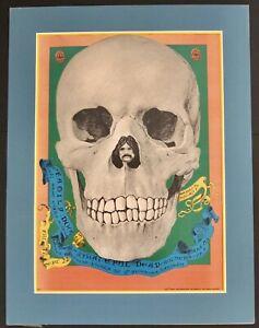 Grateful Dead Original 1967 Concert Poster By Dennis Nolan For Family Dog Matted