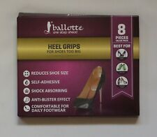 Clear gel heel grips by Ballotte with under heel cushioning. Pack of 8