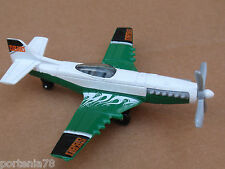 2014 Matchbox Skybusters STUNT PLANE Loose White Green