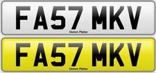 FAST 'FA57 MKV' MK5 SUPRA Golf R32 GTI Private Cherished Registration PX SWAP