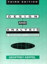 Design and Analysis: A Researcher's Handbook By Geoffrey Keppel 3rd Edition