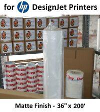 "FREE SHIPPING Matte Poly Vinyl Banner 36""x200' for HP DesignJet Aqueous Printers"