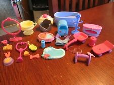 25 Piece Lot LITTLEST PET SHOP Accessories Treats, Food, Toys, Bath & More LPS