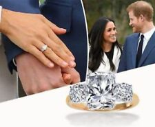 Silver Three Stone Engagement Ring Meghan Markle Prince Harry Inspired Sterling