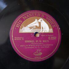 """12"""" 78rpm BERLIN STATE OPERA - LEO BLECH serenade tchaikowsky"""