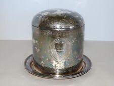 Elkington & Co. Guilloche Biscuit Barrel  Birmingham, England, 1869