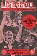Liverpool Vs Man Utd 81/82 Season - Football Programme