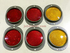 6 NEW MILITARY 4 Red 2 Yellow  REFLECTOR M37  M715 M998 M35 M813 M35A2