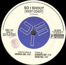 WEST COAST - So I Shout - 1995 HEX Sound Technology Research Italy - HEX 101