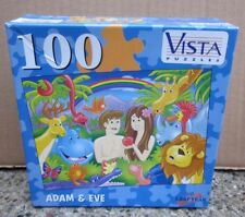 ADAM & EVE Garden of Eve jigsaw puzzle 2005 Book Genesis NWT cartoon kids Bible
