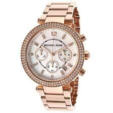 Michael Kors MK5491 Women's Parker MOP Dial Rose Gold Steel Bracelet Watch