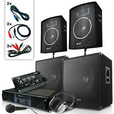 Sono Enceinte DJ Ampli PA Microphone Dynamique Karaoké Table de Mix 2/3 Canaux