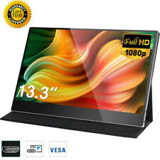 """13.3"""" HDR Gaming Monitor 1920x1080P IPS Screen For HDMI XBox 360 Laptop PC CO US"""