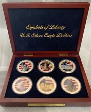 2006-2007 Symbols of Liberty 6 Unc. Colorized Silver Eagles
