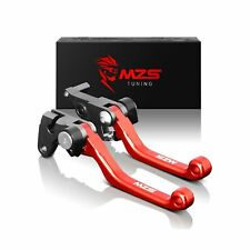MZS Pivot Levers Brake Clutch CNC Compatible with OEM CR125R CR250R 2004-2007...