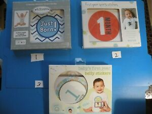 Baby's First year milestone stickers SPORTS months colorful 3 style PICK 1 S7-S9