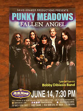 Punky Meadows Fallen Angel/Kix   ad/flyer  NYC  BB.Kings concert June 14 2016