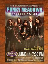 Punky Meadows Fallen Angel/Kix ad/flyer Nyc Bb.Kings concert June 14 2016