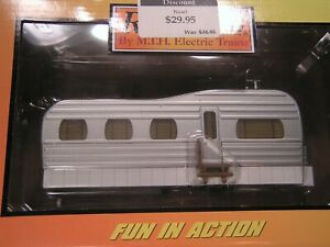 MTH Railking Stainless Steel Mobile Home