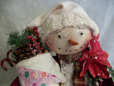 PATTERN, primitive doll,Christmas Snowman home decor by dumplinragamuffin