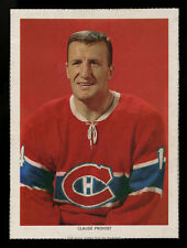 1963-65 CHEX CEREAL HOCKEY PHOTO~CLAUDE PROVOST~MONTREAL CANADIENS~FULL BORDERS