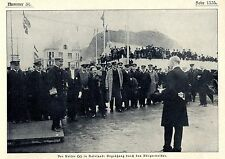 Kaiser Wilhelm in Aalesund * Begrüßung durch den Bürgermeister Bilddokument 1906
