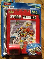 Fisher Price Power Touch: Rescue Heroes Storm Warning Book & Cartridge New