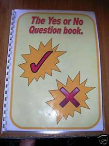 YES NO QUESTION BOOK 1 Autism/Special Needs