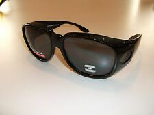 PinPoint Optics wearover style Gray Large sunglasses- Use over RX glasses P01-G