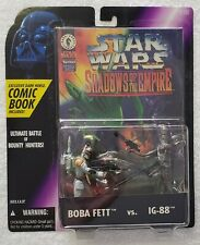 STAR WARS SHADOWS OF THE EMPIRE BOBA FETT vs IG-88 + EXCLUSIVE DARK HORSE COMIC