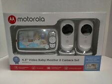 "Motorola Mbp483Xl-2 4.3"" Video Baby Monitor Twin Set Brand New Sealed"