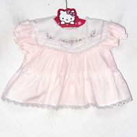 Vintage Cradle Togs Pink and White Dress Baby Size 0-6 Months