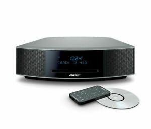 Brand New Bose Wave Music System IV - Platinum Silver CD/FM/AM/Alarm/Aux Remote
