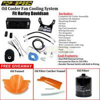 Black The Reefer Oil Cooler Fan Cooling System For Harley Touring Models 99-08