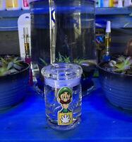 Luigi Blue Glass Stash Jar Apothecary Prescription Weed Smell Proof
