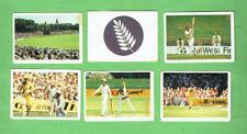 #D411.  7.  SIX(6) 1985-86 DOUBLE TROUBLE CRICKET CARDS, #2, 4, 8, 31, 51 & 59