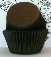 BROWN SOLID COLOR - GLASSINE CUPCAKE LINERS - 100 Ct. Standard Size
