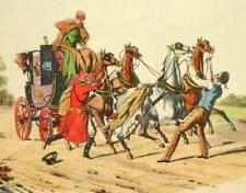 test LITHOGRAPHIE EQUESTRE Attelage cheval équitation