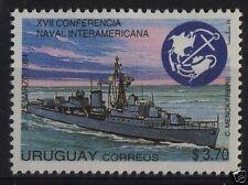 Naval conference  battleship navy boat war ship  URUGUAY Sc#1521 MNH STAMP cv$3