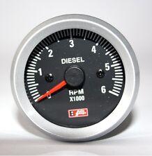 Diesel Rev Gauge Counter Tacho 52mm Black face 4x4 Car Van