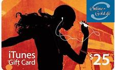 iTunes 25 Dollar Prepaid Guthaben Karte - Gift Card USD