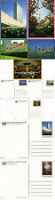 UNITED NATIONS 1989 15c SET OF ALL 5 VIEW POSTCARDS MINT / UNUSED