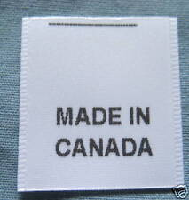 100 PRINTED CLOTHING LABELS CARE LABEL - MADE IN CANADA