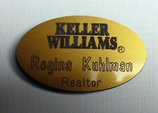 KELLER WILLIAMS  REAL ESTATE NAME BADGE TAG REALTOR PERSONALIZED FREE SHIPPING