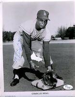 Charlie Neal Vintage Signed Jsa Certed 8x10 Photo Authentic Autograph