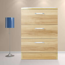 3 Drawer Cream Wooden Nightstand Bedside Cabinet Storage Table Bedroom Furniture